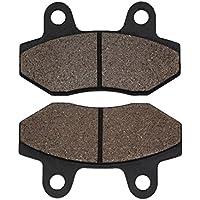 Cyleto - Pastillas de freno delanteras y traseras para HYOSUNG GT125 2007-2011 / GV650 2007-2011 / GV700C 2006-2009
