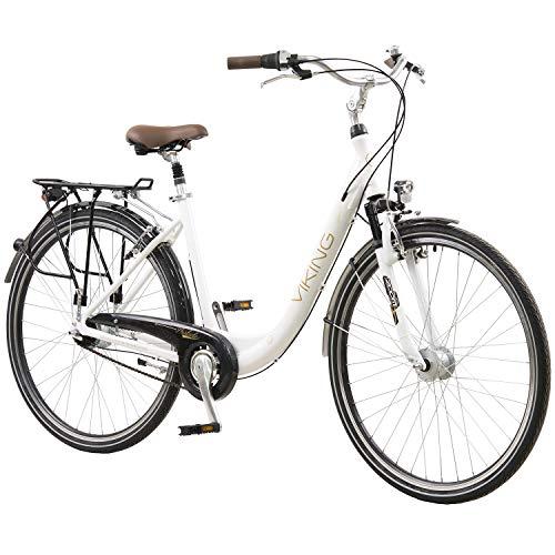 Viking 28 Zoll Prelude Citybike Stadt Fahrrad Licht 8 Gang Nexus + Federgabel