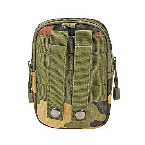MCHSHOP Mehrzweck-Taktische Tasche Kompakt wasserdicht Molle EDC Utility Gadget Gear Tools Organizer Taille Taschen Pack Handy-Holster - Kostenlose D-Shape Gürtelschnalle Dschungeltarnung