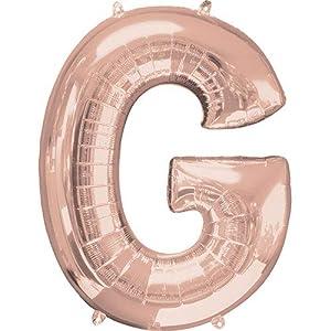 Anagram-Globo de aluminio de 40 cm de la letra G en color oro rosa, dorado, (7A3745811)