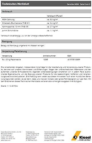 """""""Servoflex MDM"""" flexibler Mittel- & Dickbettmörtel, bis 30 mm Schichtdicke, hellgrau (1 Sack 20 kg)"""