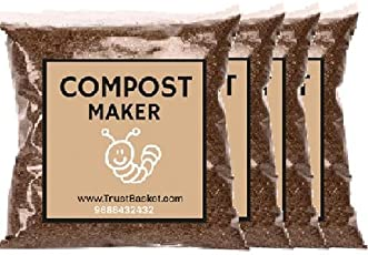 Trust Basket Bokashi Compost Maker Powder, 500 g (Pack of 4)