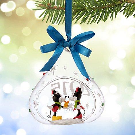Disney - Weihnachten - Micky und Minnie Glas Ornament 2015 - 464342802638