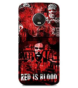 Chiraiyaa Designer Printed Premium Back Cover Case for MOTO G5 PLUS (red is blood) (Multicolor)