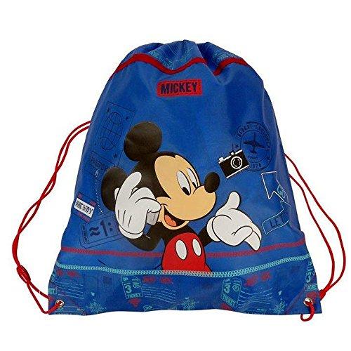 Micky Maus - Sportbeutel Turnbeutel groß Schule Mickey Mouse 42 x 35 cm
