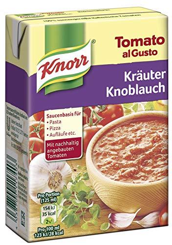Kräuter-knoblauch (Knorr Tomato al Gusto Kräuter Knoblauch Soße, 8er-Pack (8 x 370 g))