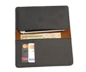FING ™ Logo Black Dotted Designer Wallet Pouch Mobile Cover Case with Card holder Slots for Celkon A900