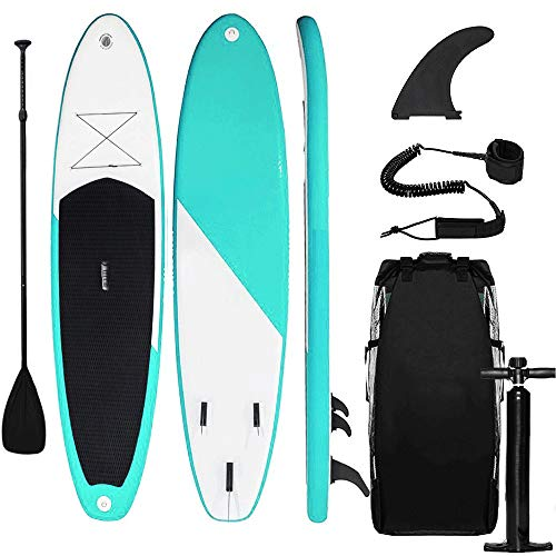 Triclicks Stand Up Paddle Gonflable 300x75x15cm (Ép), Pompe...