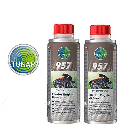 Tunap 157 Micro Logic Premium - Pulitore Interno Motore pulizia del circuito di lubrificazione - 200mL x 2 pezz