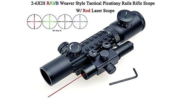 Tactical 8-32 x 50 ottiche Rosso-Verde Dot Compatto Cannocchiale