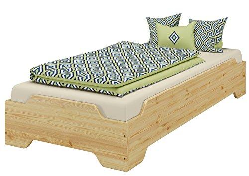 stapelbett kinderbett g stebett 80x200 massivholz bettgestell kiefer or. Black Bedroom Furniture Sets. Home Design Ideas