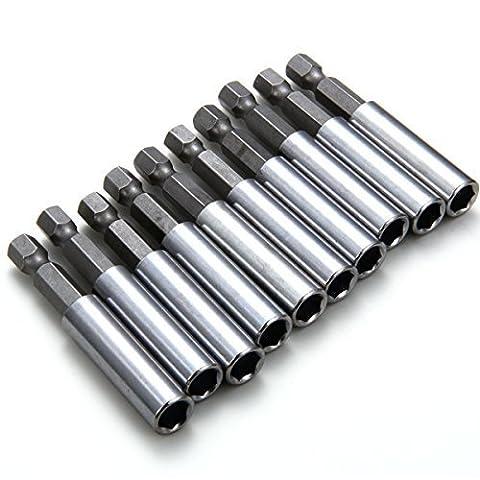 XCSOURCE 10 Pcs Extension Extend Socket Drill Bit Holder 1/4