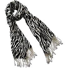 175 x 70 cm-von Fat-catz-copy-catz Zebra-Streifen-Print Wolle gro/ß Damen Pashmina-Schal