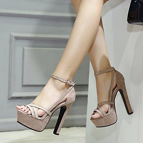 GTVERNH-in estate i sandali notte densa con impermeabile scarpe col tacco alto tacchi alti sono sexy notte d'estate,37 Thirty-seven