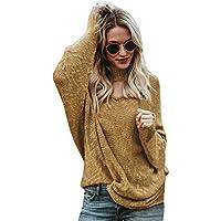 Damen Sweater,Geili Frauen Herbst Winter Langarm V-Ausschnitt Sexy Aushöhlen Sweatershirt Damen Lose Einfarbig... preisvergleich bei billige-tabletten.eu