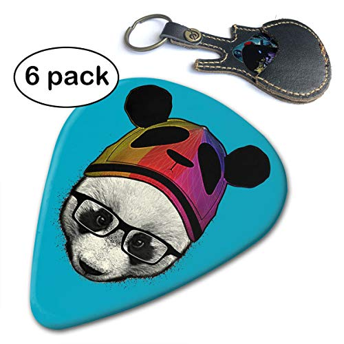 Fighwy Cute-Panda Akustikgitarre, Mandoline und Bass Premium Plektren .96mm weiß