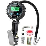 Numérique Manomètre Pneu, Trehai 200 PSI Haute Précis Digital Jauge de pression de pneus, Pistolet Gonflage, Avec écran LCD