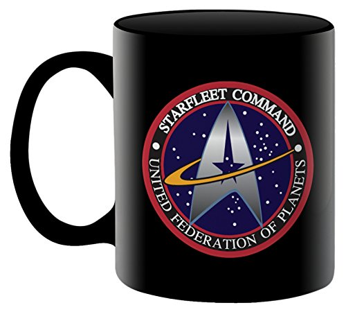 Aquarius Star Trek Starfleet Logo Kaffeebecher