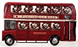 Metall Rahmen London Bus rot 41 x 24 cm Bilderrahmen Nostalgie Great Britain roter Doppeldecker UK
