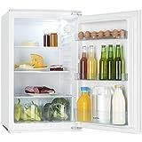 Klarstein Coolzone 130 nevera empotrada (capacidad de 130 litros, clase energética A+, 3 estantes de vidrio, compartimiento para verduras grande, nevera para montar) - blanca