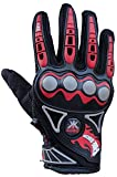 Probiker Imported Mesh Fabric Fire Roller Motorcycle Gloves (Black, Large)