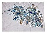 Blue Vessel Spitze Pailletten Pfauenfedern Stickerei Nähen Bügeln auf Patches Abzeichen Tasche Applique Kleid T-Shirt Jeans Hut Cheongsam Für Dekor