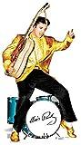 Star Cutouts Pappaufsteller von Elvis Gold und Schlagzeug