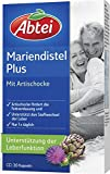 Abtei 43431 Mariendistelöl Plus Artischocke mit Vitamin E Kapseln