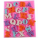 26 Gießformen (in Form von Buchstaben) aus Silikon; für Schokolade, Süßigkeiten, Kuchen, Konfekt