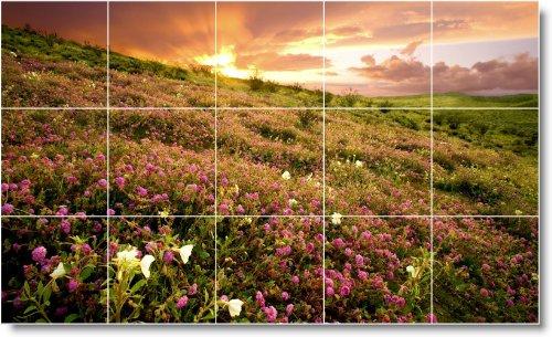 SUNSET FOTO TILE MURAL S001  12 75X 21 2CM CON (15) 4 25X 4 25AZULEJOS DE CERAMICA