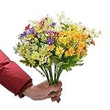 6pcs Fiori Artificiali in Seta Sintetica Daisy Wildflowers Greenery Cespugli Piante Plastica Cespugli Indoor Farmhouse Fuori Garden Planter Decor