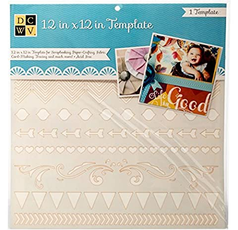 Diecuts With A View EM-033-00020 Templates, 12 x 12, Borders, Clear by Die Cuts
