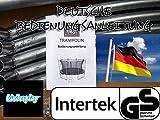 Best for Sports Trampolin mit TÜV Intertek und GS Zertifikat grün 305 cm mit Sicherheitsnetz, Leiter, REGENABDECKUNG, BIS 150 KG (305 cm) - 7
