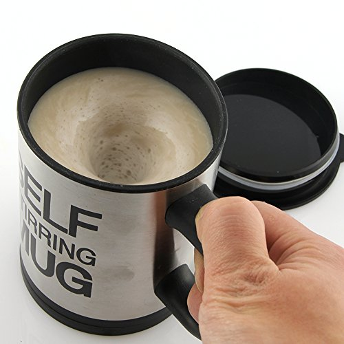 Flying Birds Automatic Stainless Coffee Mixing Cup Blender Self Stirring Mug