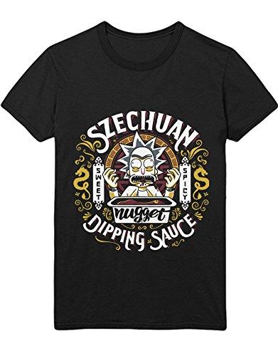 T-Shirt Rick Szechuan Dipping Sauce C000035 Schwarz XXL - Swim Adult Shirt