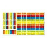 nikima Schönes für Kinder 130 Wandtattoo Lego*-Steine Bricks Bausteine - 146 Stück - Möbelaufkleber - Coole Kinderzimmer Sticker Aufkleber Wanddeko Wandbild Junge Bausteine Bricks Größe 750 x 420 mm