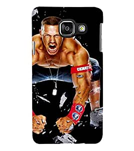 For Samsung Galaxy A5 (6) 2016 :: Samsung Galaxy A5 2016 Duos :: Samsung Galaxy A5 2016 A510F A510M A510Fd A5100 A510Y :: Samsung Galaxy A5 A510 2016 Edition fighter man man black wallpaper Designer Printed High Quality Smooth Matte Protective Mobile Case Back Pouch Cover by Paresha