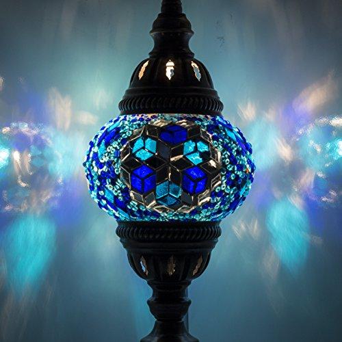 Mosaik Lampe–Handarbeit Türkisch Mosaik Tisch Lampe mit Laterne, marokkanischer Mosaik, Bronze Base, Einzigartige Tischlampe N1Für Ihr Zimmer Dekoration von TK Bazaar Turquaz