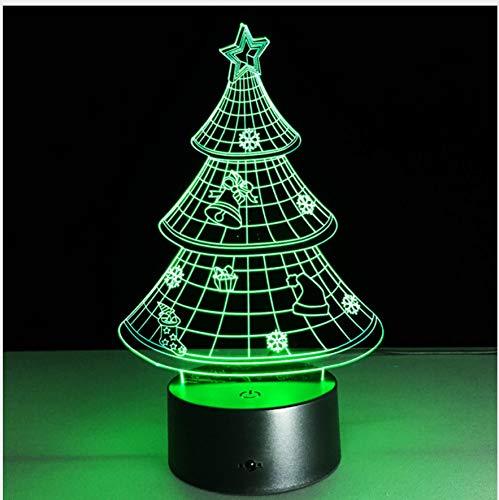 Weihnachtsbaum 3D Lampe Led Usb Lampe Licht Touch Rgb Farben Ändern Nachttisch Nachttischlampe Nachttischlampe Led Lampe