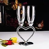 1 Set Di (2) Bicchieri Di Vino Rosso Creativo Ad Alta Qualità, Bicchiere Di Champagne, Bicchiere a Calice, Coppa Nuziale (Flute da Champagne 2#)