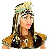 Ägyptischer Haarschmuck Kleopatra Kopfband Antike Pharaonin Haarband Göttin Ägypterin Schlangen Stirnband Kostüm Accessoire Damen Cleopatra Kopfschmuck mit Schlange