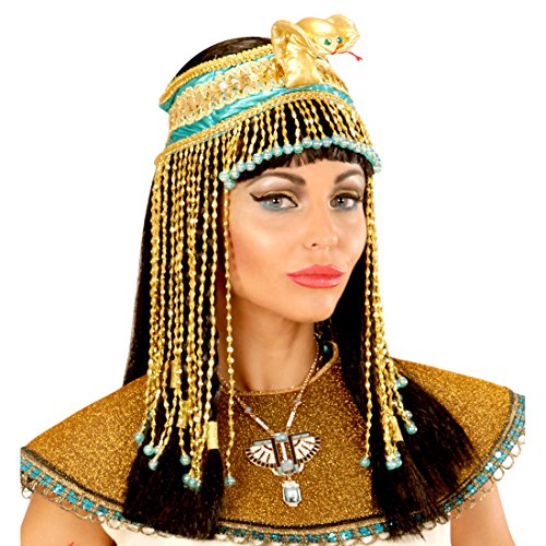 Ägyptischer Haarschmuck Kleopatra Kopfband Antike Pharaonin Haarband Göttin Ägypterin Schlangen Stirnband Kostüm Accessoire Damen Cleopatra Kopfschmuck mit Schlange (Schlange Göttin Kostüm)