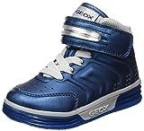 Sneakers alte Geox Junior pratiche da infilare, con doppia chiusura a strappo regolabile e suola in gomma. Una calzatura comoda e casual per l'autunno e l'inverno.
