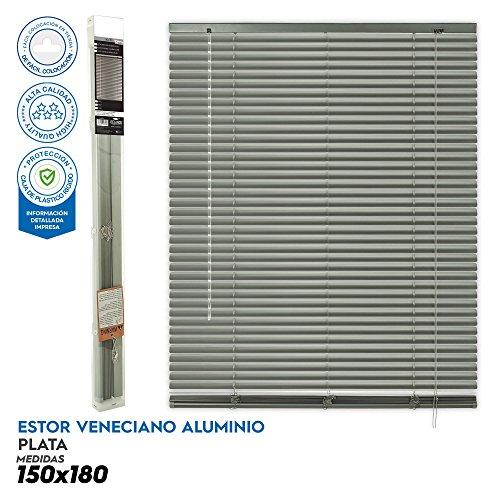 ESTOR VENECIANO ALUMINIO 150x180 PLATA