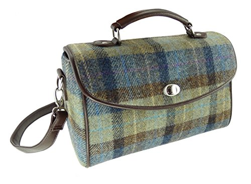 Harris Tweed , Damen Satchel-Tasche grün COL 58