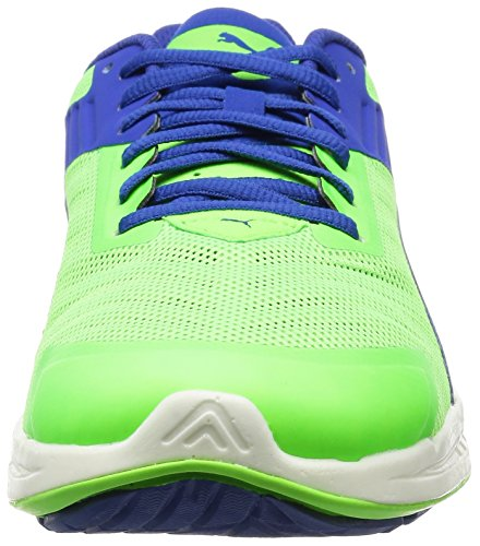Puma IGNITE v2, Chaussures de course homme Multicolore (Green Gecko/Surf The Web/Puma Silver)