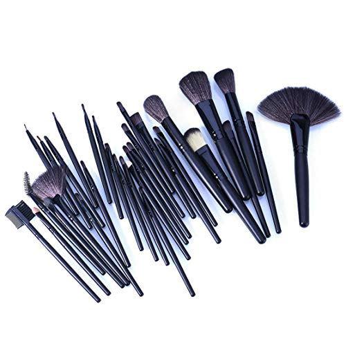 LouiseEvel215 Weiche Make-up Pinsel Set 32   Stück Multi-Color Maquillage Beauty Brushes Kabuki Pinceaux Brush Set Kit Pouch -
