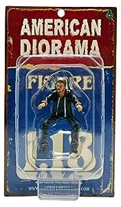 Motorista Bulldog Motociclistas Modelo Figura 1:18 Estadounidense Diorama AD-23866