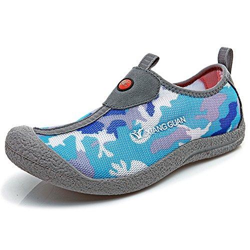 Xiang Guan Uomo All'aperto Nylon Sport Scarpe da escursionismo Grigio&blu