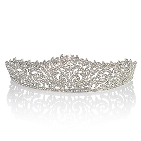 Topwedding Rhinestones Bridal Headpiece Wedding Tiara Crown, women